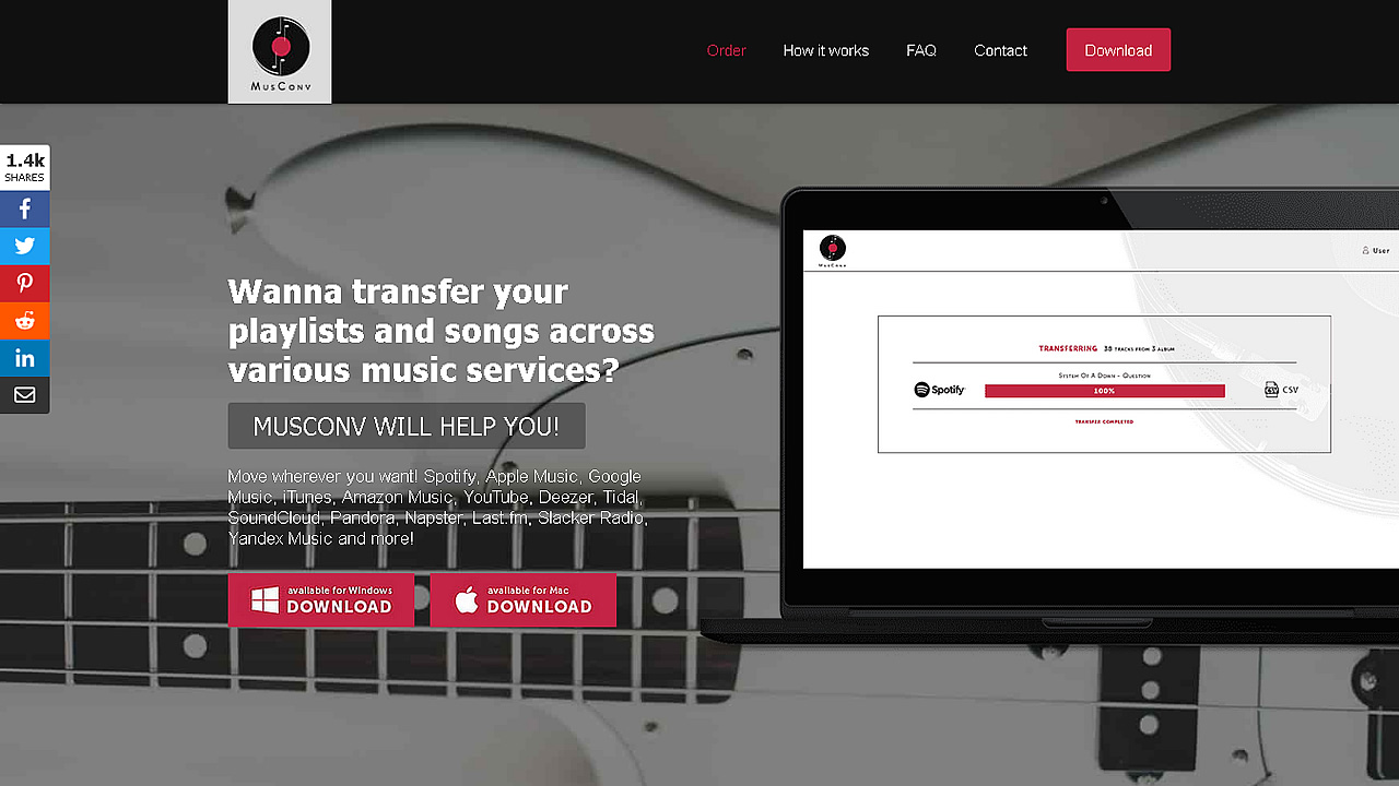 What is a music transfer