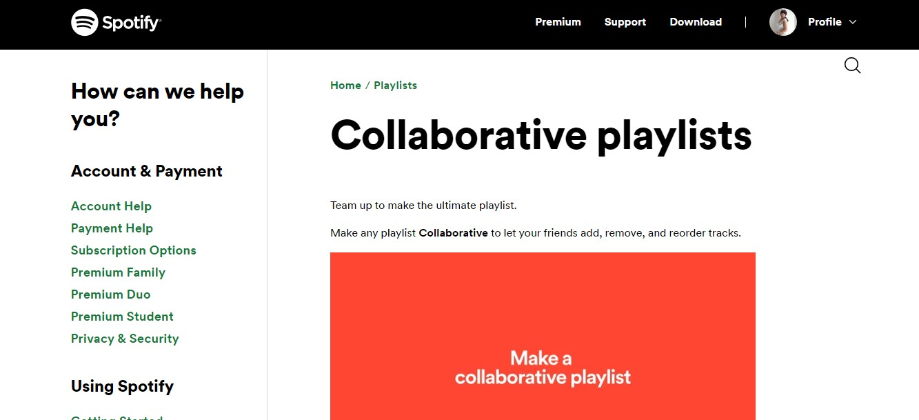 how do I add songs to a collaborative playlist on Spotify,
