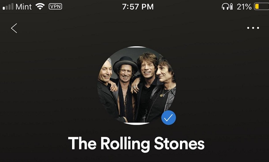 Are the Rolling Stones on Spotify?